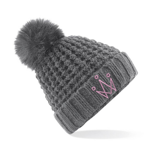Grey Bomb Bobble Hat