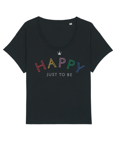 Happy Just to Be - scoop neck