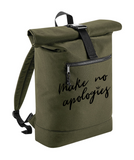 Khaki Roll Top Backpack