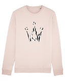Zebra Crown Pink Sweater