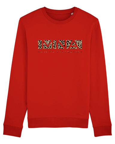 Leopard Block Red Sweater