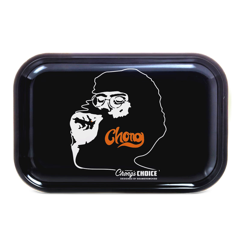 "Tommy Chong Medium Metal Rolling Tray - Smoking Chong (10.75"" X 6.25"") - DabShack Distribution"