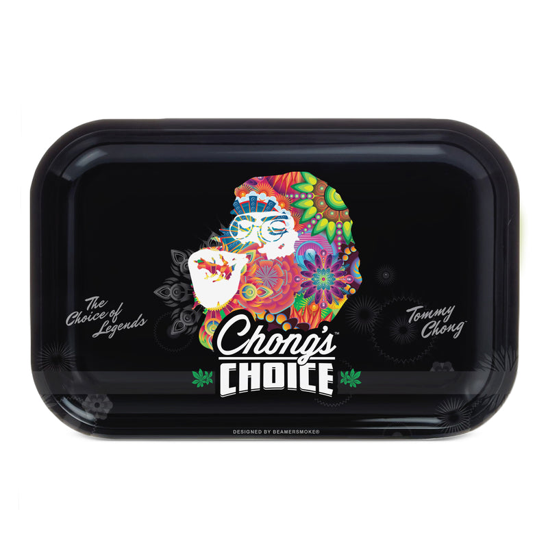 "Tommy Chong Medium Metal Rolling Tray - Psychedelic Smoking Chong (10.75"" X 6.25"") - The Dab Shack"