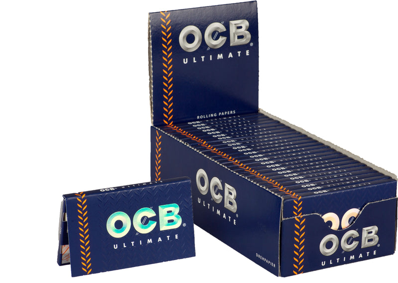 OCB Ultimate Single-Wide/Double Rolling Paper (Box of 25 Booklets) - The Dab Shack