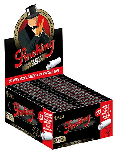 Smoking Deluxe 2.0 King Size + Filters (Box of 33 Booklets + 33 Filters) - The Dab Shack