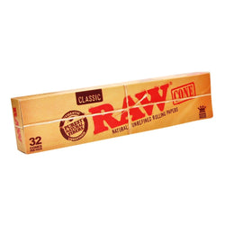 Raw Classic King Size Cones (Pack of 32 Cones) - The Dab Shack