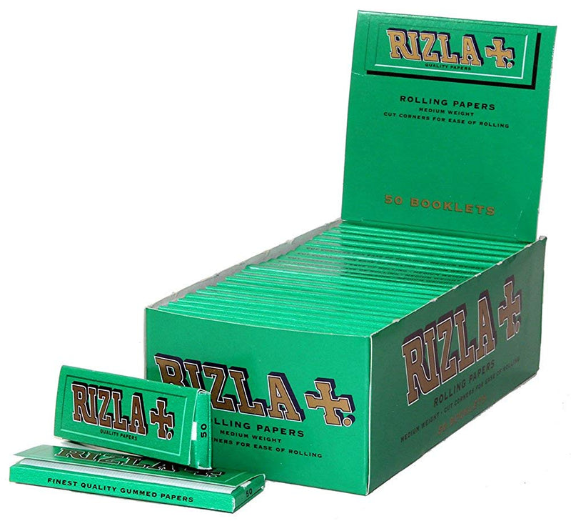 Rizla Green - Rolling Papers Green (50 Box) - DabShack Distribution