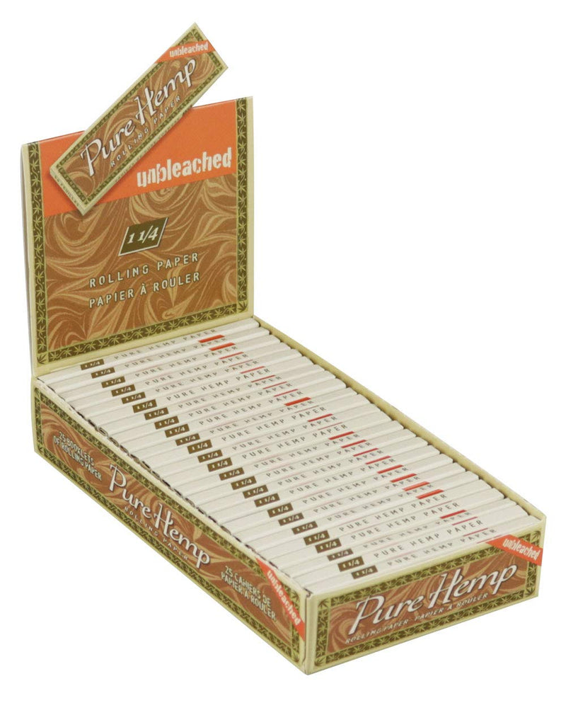 Pure Hemp Unbleached 1 1/4 Rolling Paper (Box of 25) - The Dab Shack