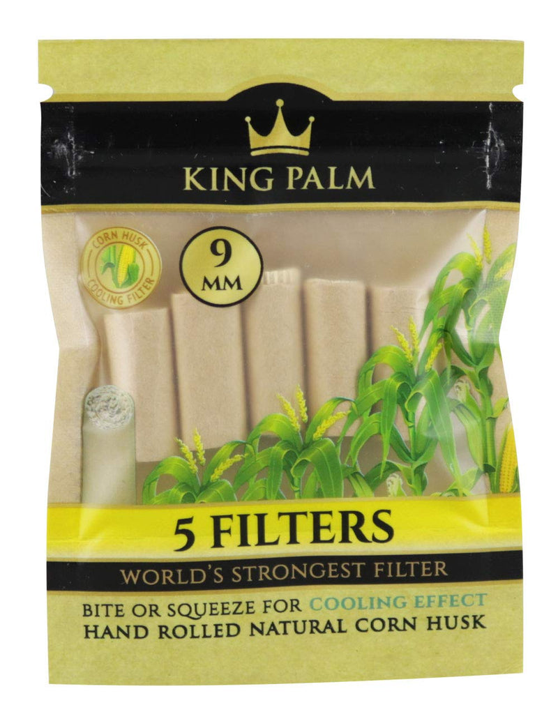 King Palm 5 Filters (9MM) - The Dab Shack