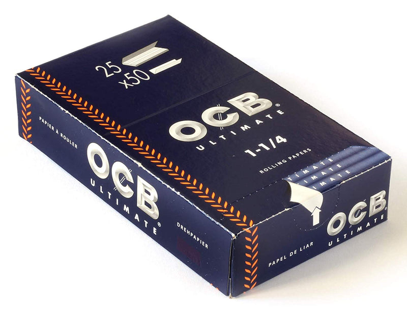 OCB Ultimate 1 1/4 Rolling Paper (Box of 25 Booklets) - DabShack Distribution