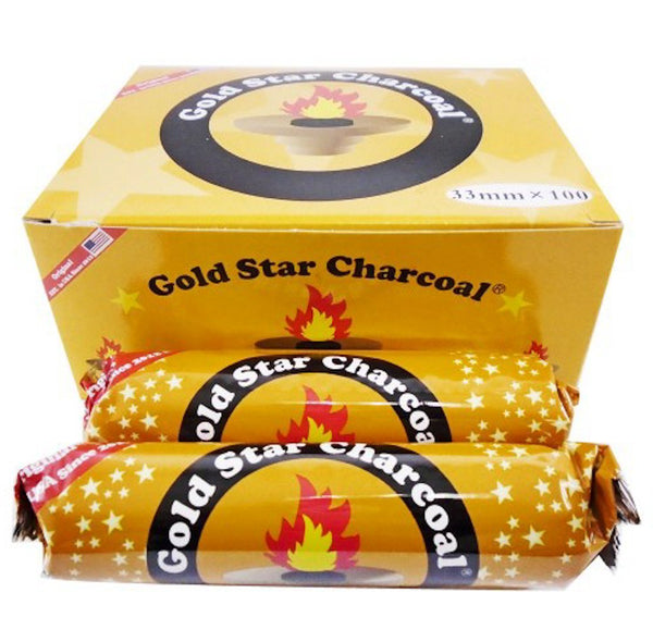 Gold Star - Charcoal (Box of 10) - The Dab Shack