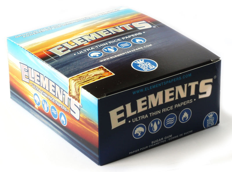 Elements Ultra Thin Rice King Size - Rolling Paper (Box of 50) - The Dab Shack