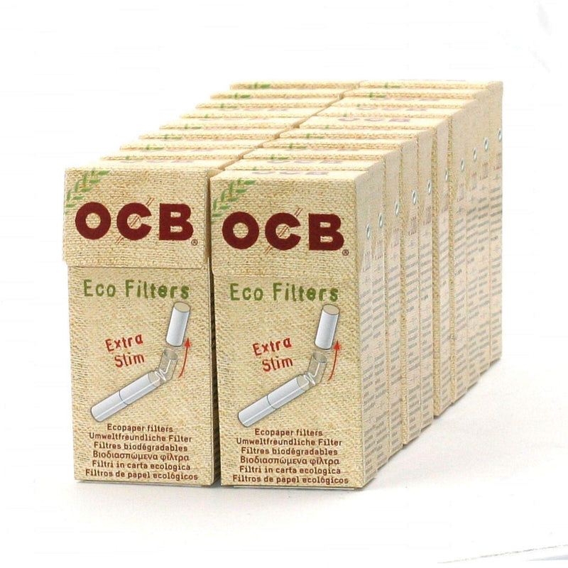 OCB Eco Extra Slim Filters (Box of 20 Packs) - DabShack Distribution