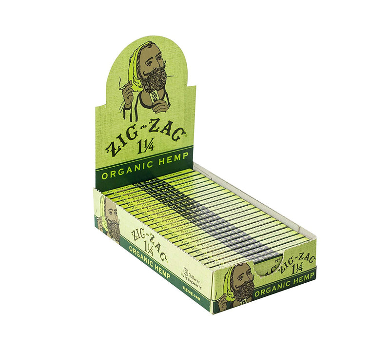 Zig-Zag 1 1/4 Organic Hemp (Box of 25) - DabShack Distribution