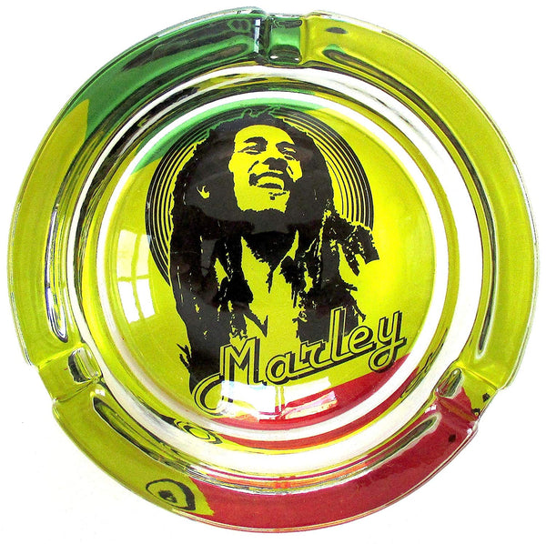 Bob Marley Glass - Glass Ashtray (Box of 6) - The Dab Shack