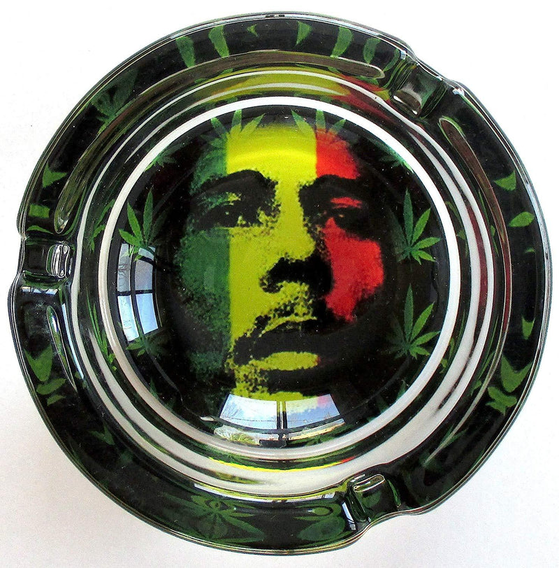 Bob Marley Glass - Glass Ashtray (Box of 6) - DabShack Distribution