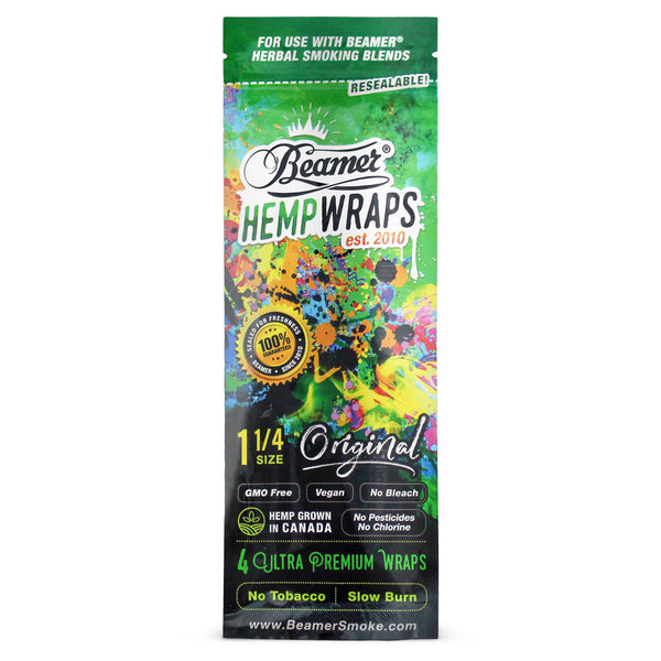 Beamer 1 1/4 Size Vegan 4 Hemp Wraps (Box of 25) - The Dab Shack