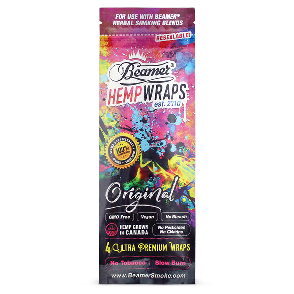 Beamer Original Size Vegan 4 Hemp Wraps (Box of 25) - The Dab Shack