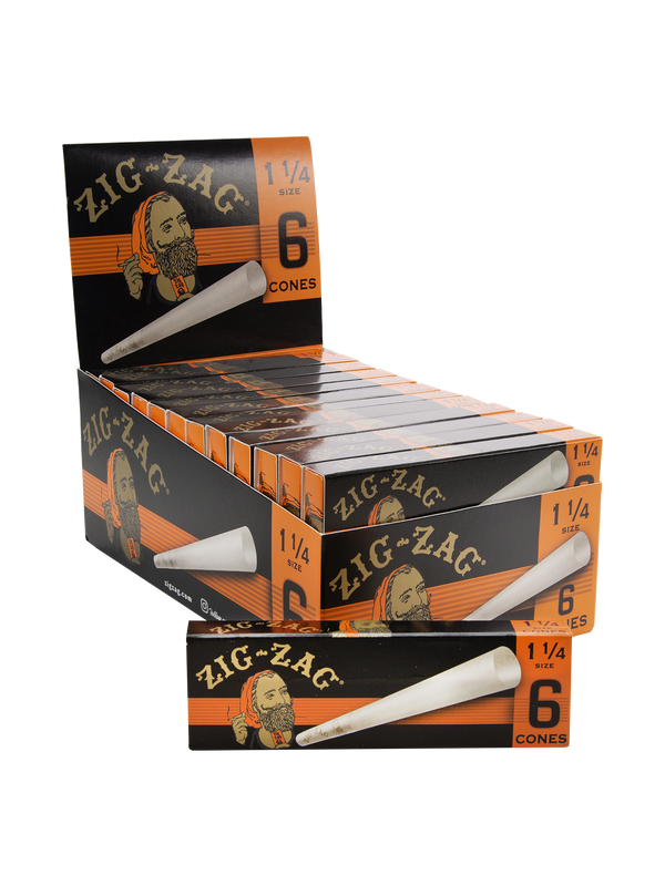 Zig-Zag 1 1/4 6 Cones (Box of 24) - The Dab Shack