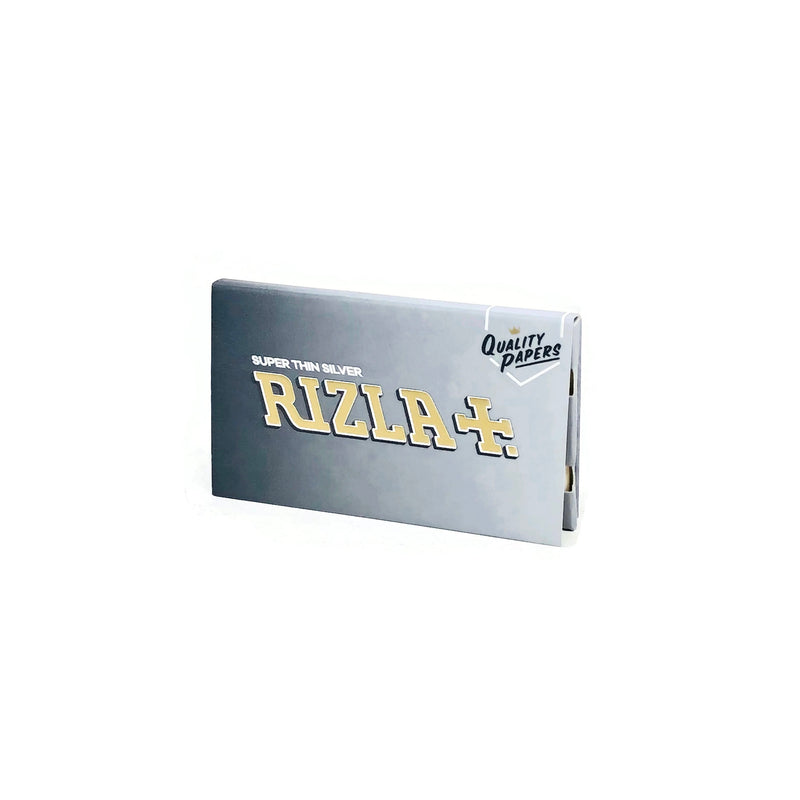 Rizla Super Thin Silver - Rolling Papers (Box of 25) - The Dab Shack