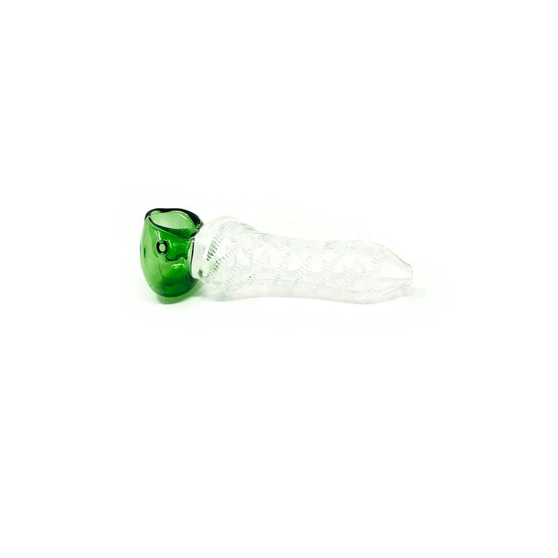 Deluxe Glass Hand Pipe Indented Handle - The Dab Shack