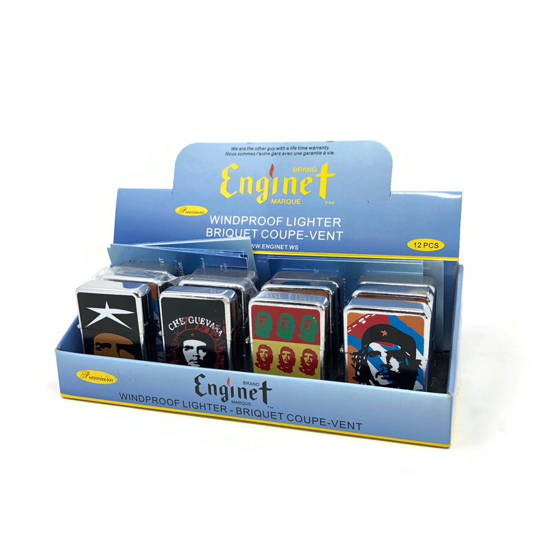Enginet Windproof Lighter (Box of 12) Guevara - The Dab Shack