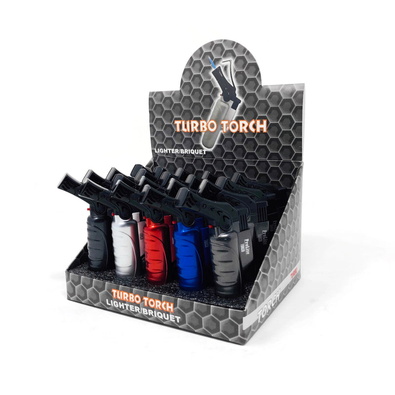 Multi-Coloured Turbo Torch - Lighters (Box of 20) - The Dab Shack