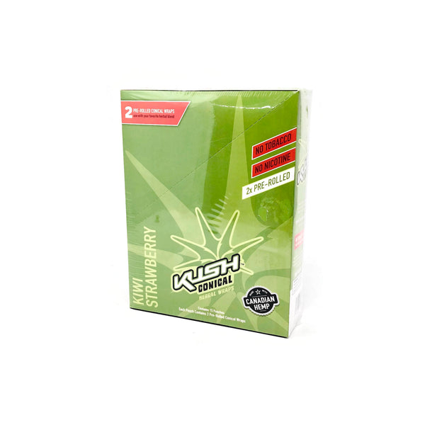Kush -  Conical Kiwi Strawberry Herbal Wraps (Box of 15) - The Dab Shack