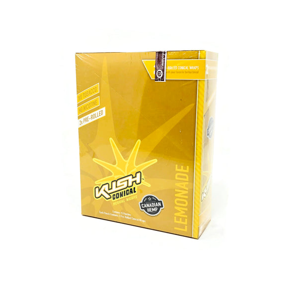Kush -  Conical Lemonade Herbal Wraps (Box of 15) - The Dab Shack