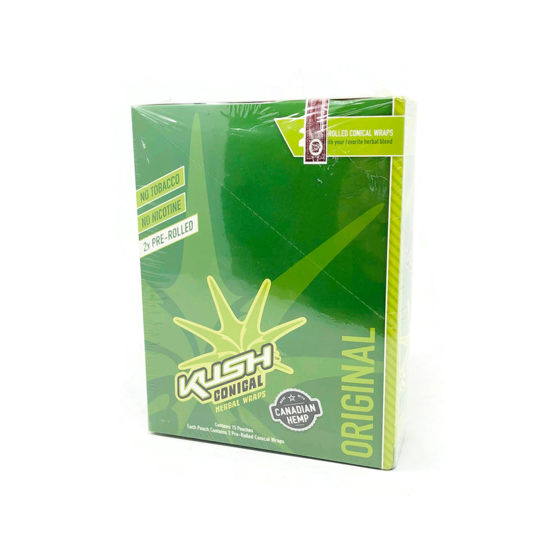 Kush - Conical Original Herbal Wraps (Box of 15) - The Dab Shack