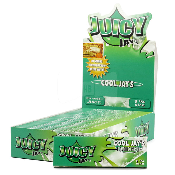 Juicy Jay's 1 1/4 - Menthol (Box of 24) - The Dab Shack