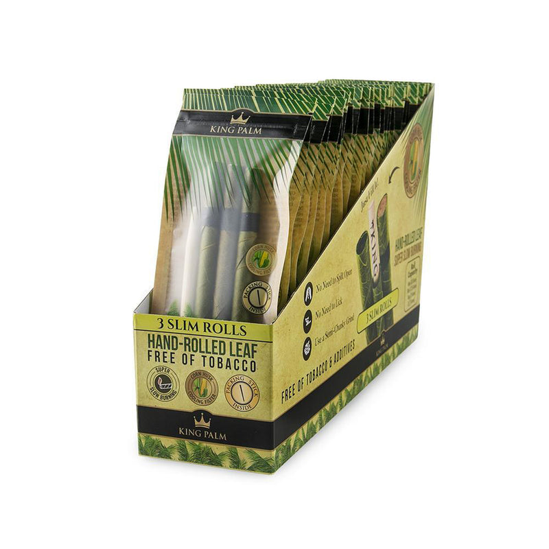 King Palm 3 Slim Rolls (Box of 24) - The Dab Shack