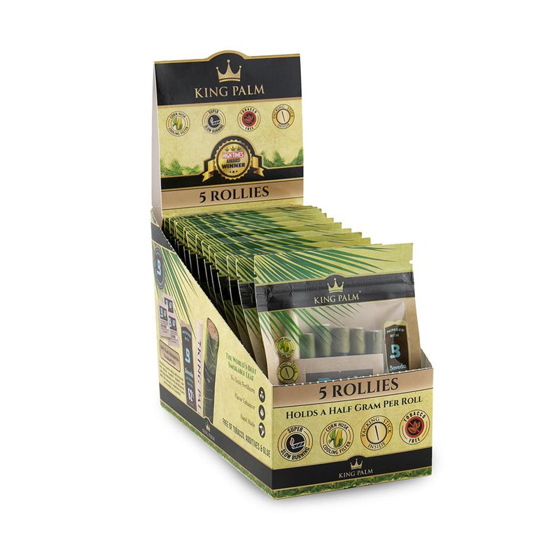 King Palm 5 Rollies w/ Boveda (Box of 15) - The Dab Shack