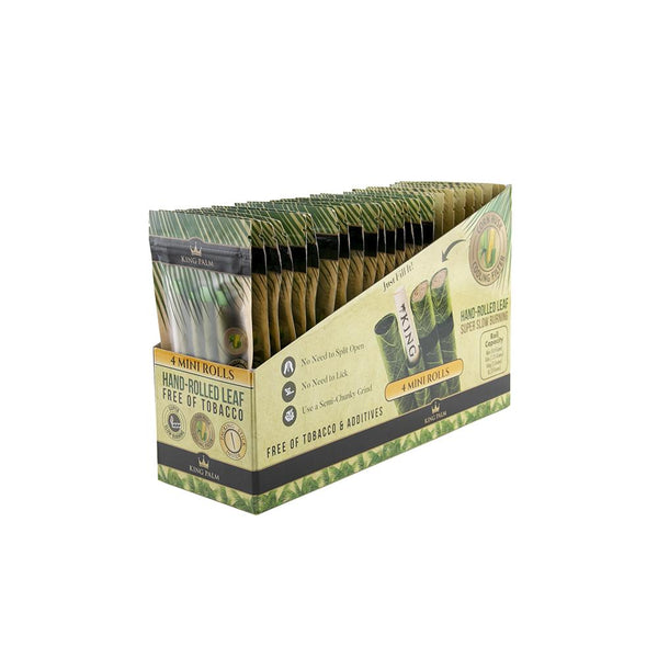 King Palm 4 Mini Rolls (Box of 24) - The Dab Shack