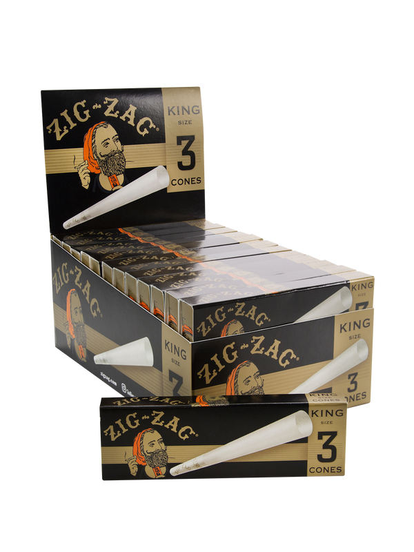 Zig-Zag King Size 3 Cones (Box of 24) - The Dab Shack
