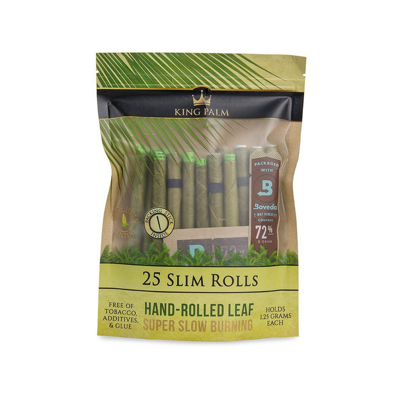 King Palm 25 Slim Rolls w/ Boveda - DabShack Distribution