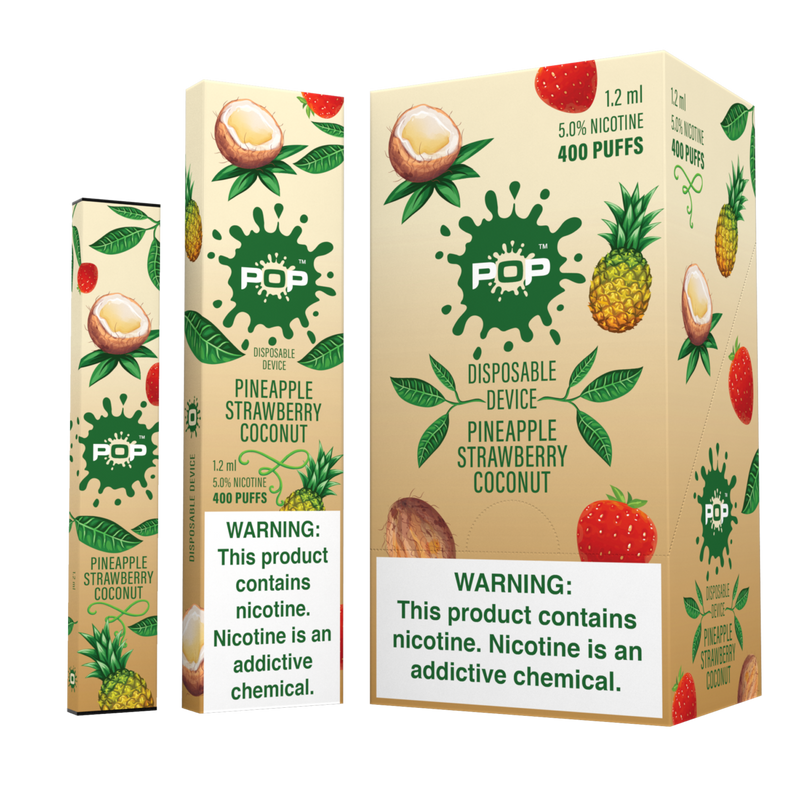 Pop Bar - 400 Puffs Disposable Device (50mg/ml) - The Dab Shack