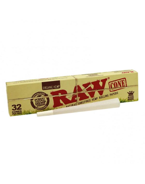 Raw Organic King Size Cones (Pack of 32 Cones) - The Dab Shack