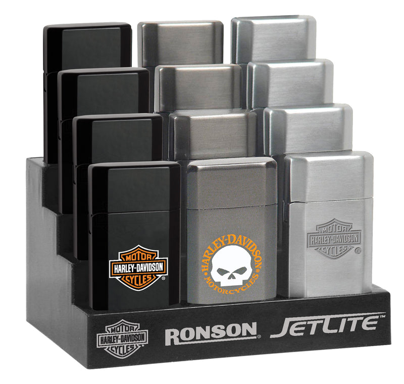 Ronson Jetlite Harley Davidson Lighters (Box of 12 Lighters) - The Dab Shack