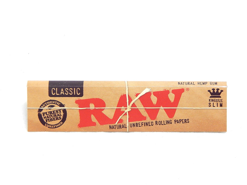 2 X 5 RAW Classic Kingsize Slim Rolling Papers /& 3 Raw Tips