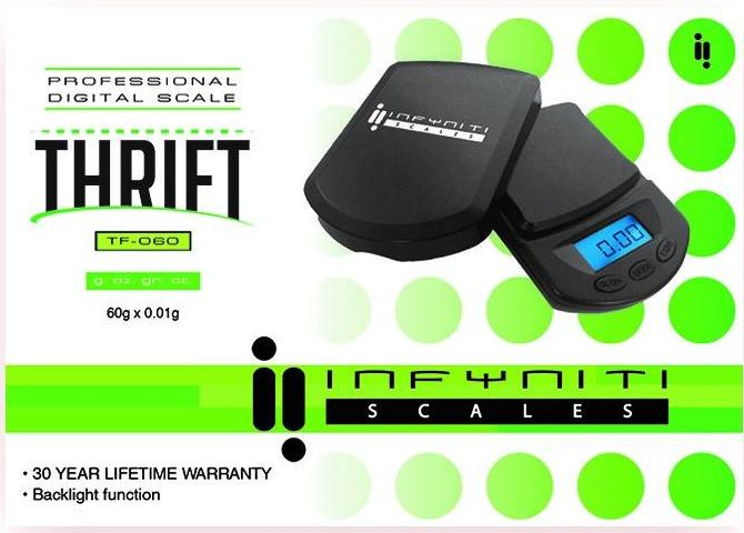 Infyniti Thrift TF-060 - Digital Scale (60g x 0.01g) - The Dab Shack