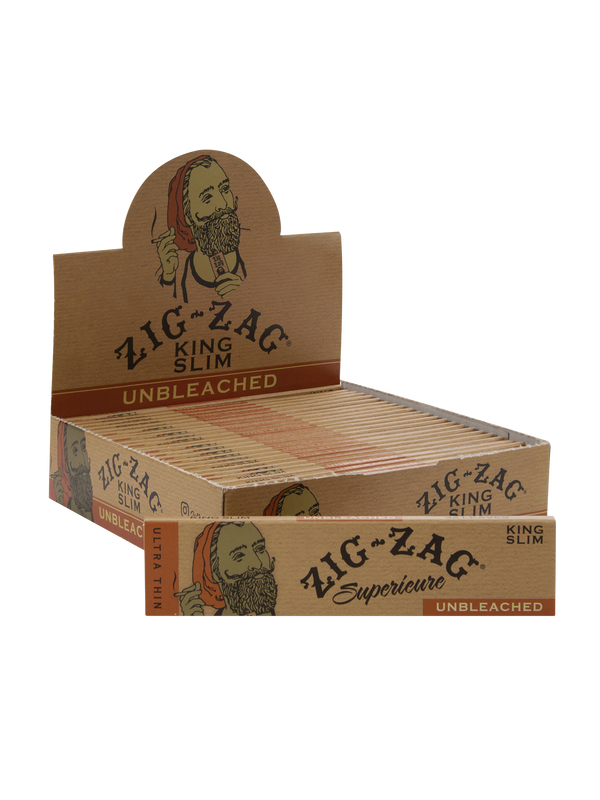 Zig-Zag King Slim Unbleached (Box of 24) - The Dab Shack
