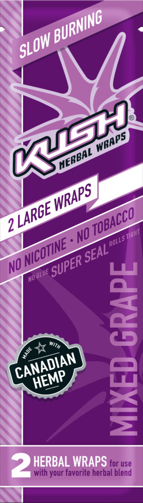 Kush - Conical Mixed Grape Herbal Wraps (Box of 15) - The Dab Shack