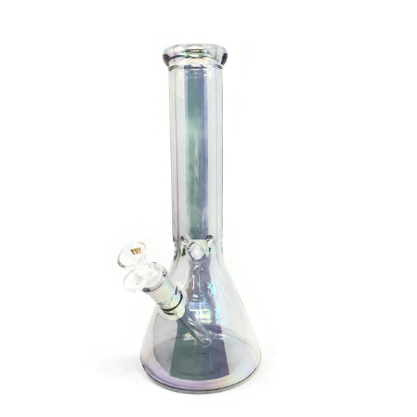 "Glass Bong Iridescent 12"" 7MM - The Dab Shack"