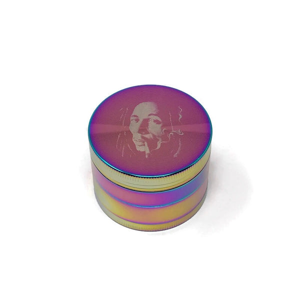 Grinder 4-Part Diamond Teeth Bob Marley Multicolour (Box of 6) - The Dab Shack