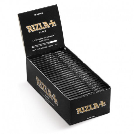 Rizla Black Ultra Thin - Rolling Papers (Box of 25) - The Dab Shack