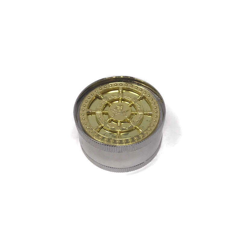 Grinder 3-Part Triangle Teeth Gold Pirate (Box of 12) - The Dab Shack