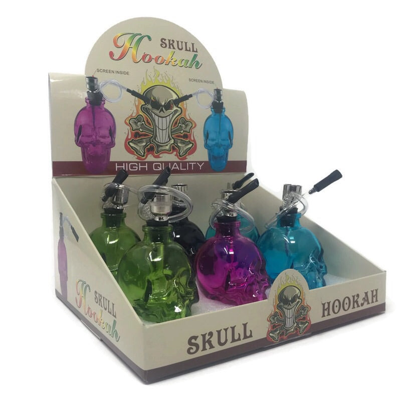 Skull Hookah (Box of 6) Large - DabShack Distribution