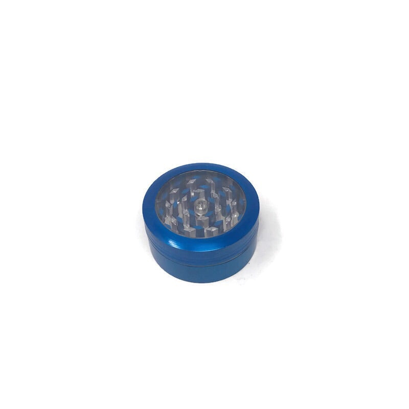 Grinder 2-Part Diamond Teeth Transparent Push-Button (Box of 12) - The Dab Shack