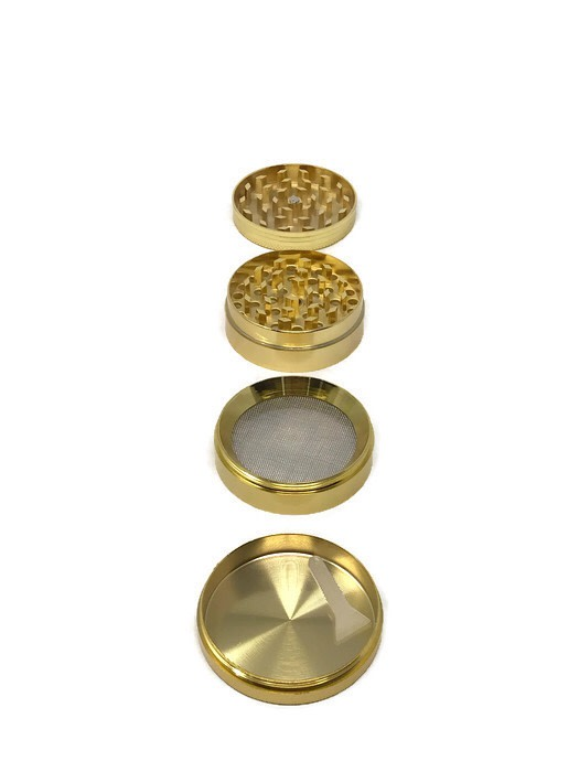 Grinder 4-Part Diamond Teeth Gold (Box of 6) - The Dab Shack